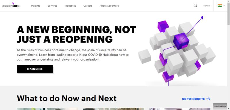 Accenture美國網站