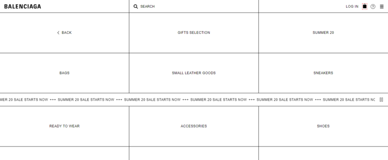 Balenciaga online store
