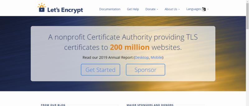Let's Encrypt 機構官方網站